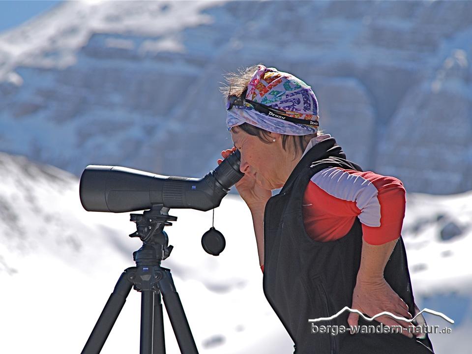 Spektiv zeiss u berge wandern natur