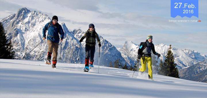 Karwendel Schneeschuhwandern