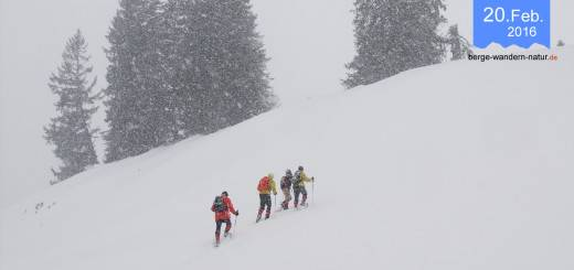 Schneeschuhwanderung im Karwendel Wintereinbruch