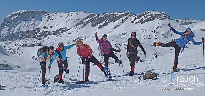 Frauen-Schneeschuhwanderung - bayrische Voralpen