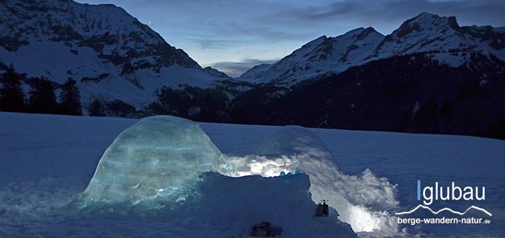 Schneeschuhwanderung mit Iglubau