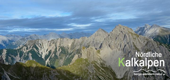 Panorama Karwendelgebirge, großer Solstein bei der Alpendurchquerung
