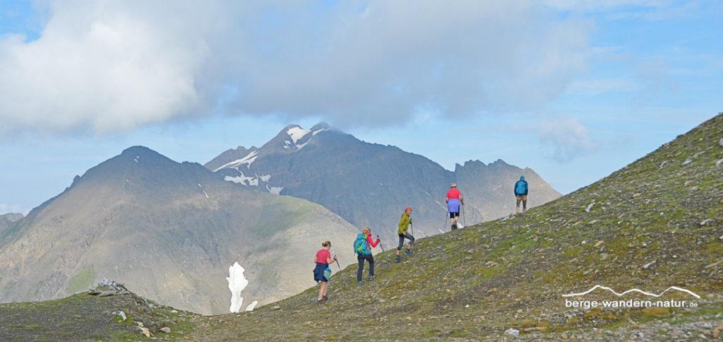 Aufstieg zur Wurmaulspitze einem Dreitausender