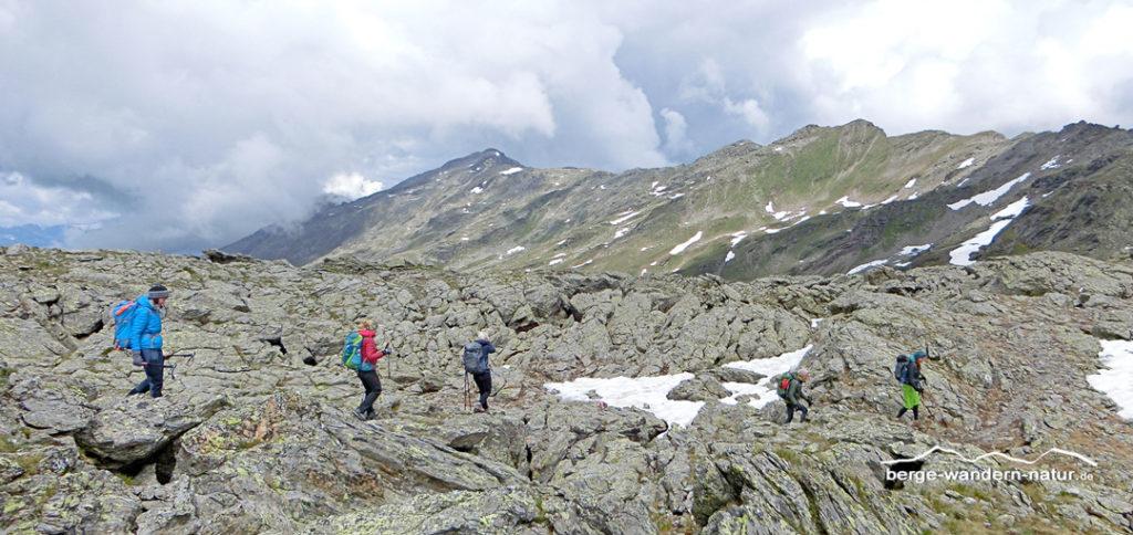 seven summits der Tuxer Alpen, wandergruppe von Berge-Wandern-Natur