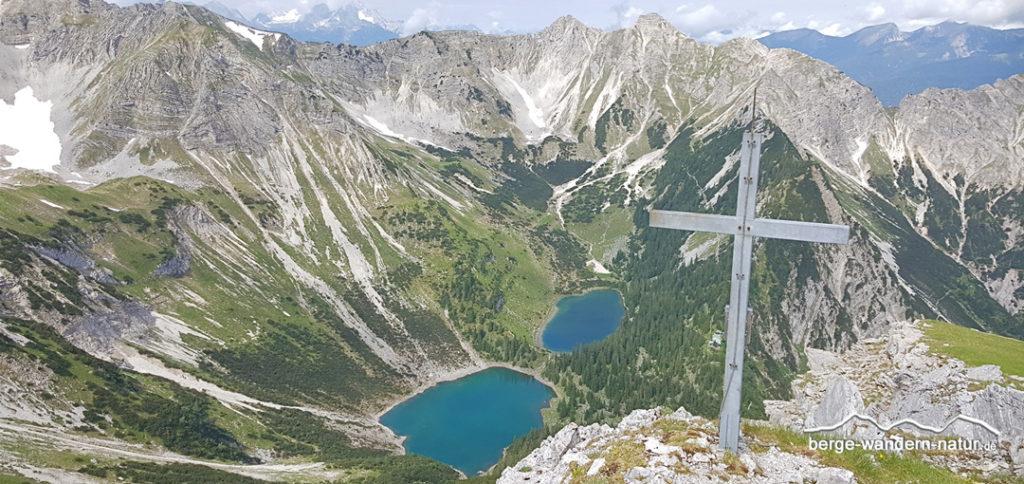 Soiernsee von der Gumpenkarspitze betrachtet