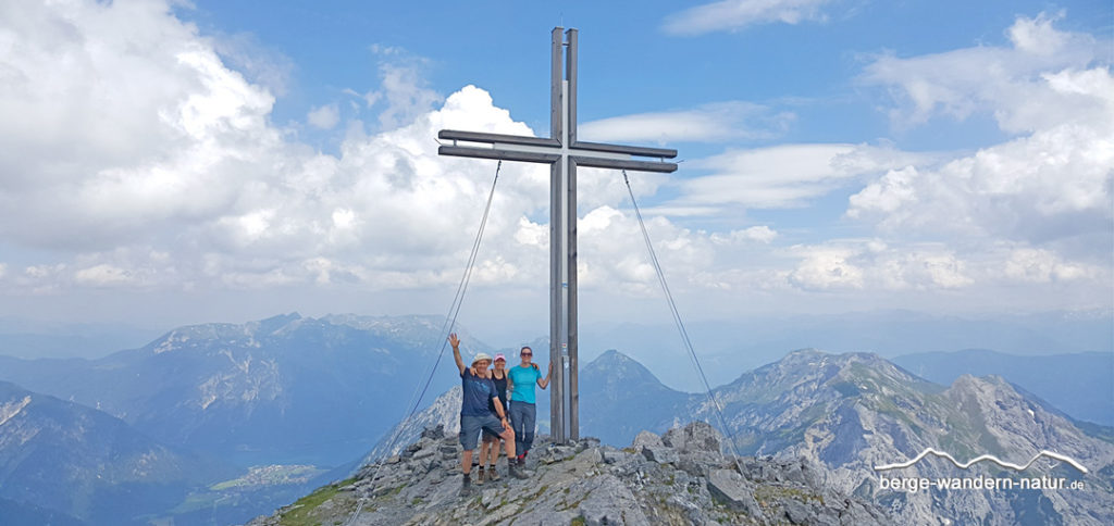 Gipfel des Sonnjochs im Naturpark Karwendel