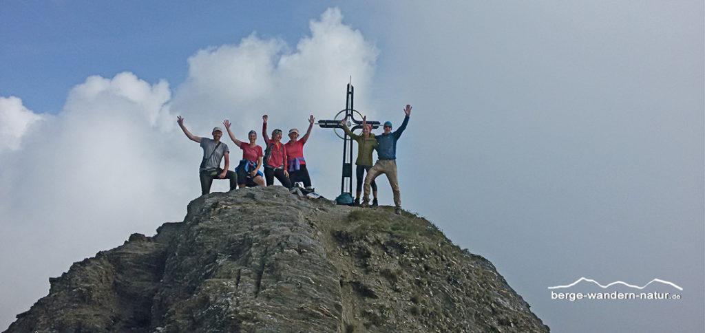 LASI Wandergruppe auf dem Gipfel der 3022 meter hohen Wurmaulspitze