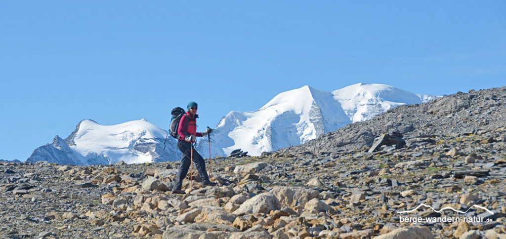 Piz Palü Panorama bei geführter Engadin Wanderwoche