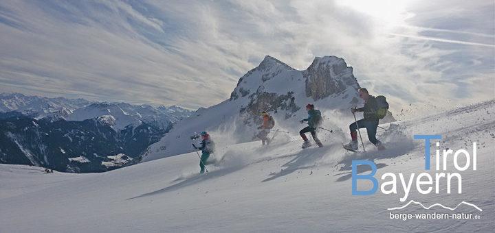 Schneeschuhwandern Bayern Tirol