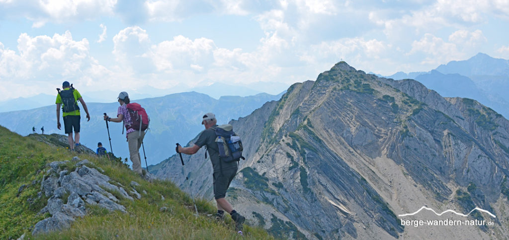 Wandergruppe an der Seekarspitze Karwendel