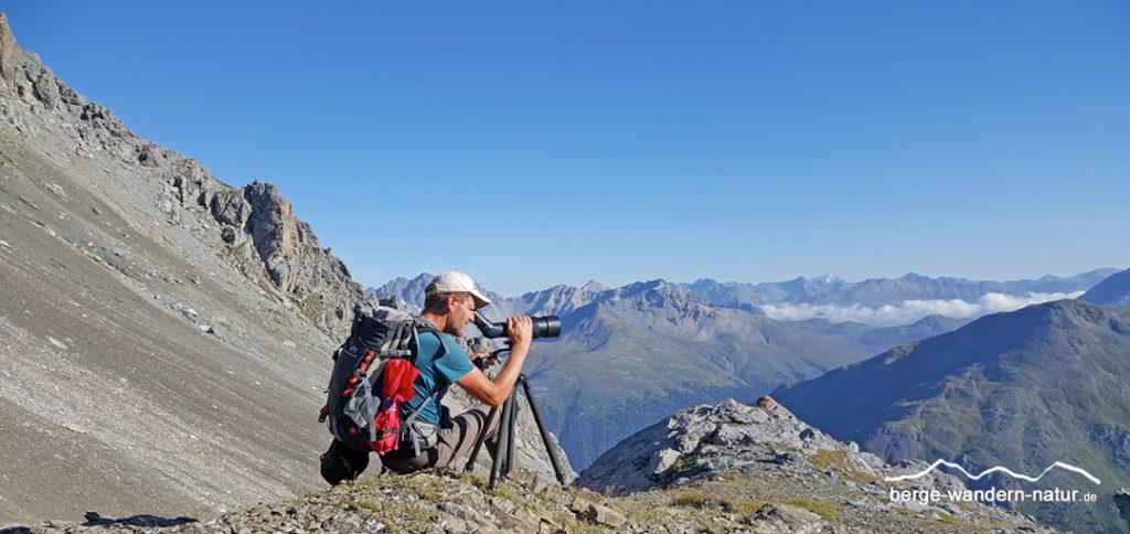 Naturbeobachtung im schweizer Nationalpark mit spektiv von ZEISS und LASI