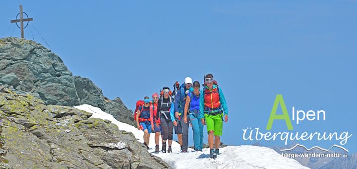 geführte mehrtagestour über die alpen